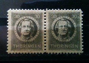 Germany Thuringen 99AY z paper mnh