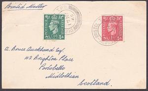 GB 1949 postcard ; DERBY - BRISTOL TPO cds..................................6418