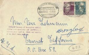 Germany Soviet Zone 40pf Hauptmann and 10pf Bebel 1950 Nordhausen - Wernigero...