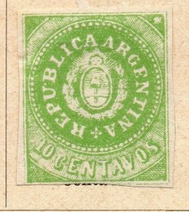 Argentina 1862 Early Issue Fine Mint Hinged 10c. NW-11806