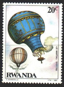 Rwanda. 1984. 1267A from the series. Balloon. MVLH.