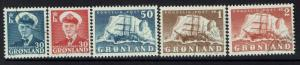 Greenland SC# 33-37, Used -  Lot 051417