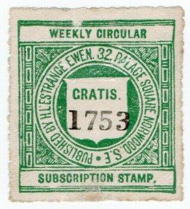 (I.B) Railway Letter Stamp : L'Estrange Ewen Subscriber Stamp (free)
