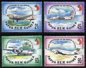 Papua New Guinea Scott 814-17 MNHOG - 20th Annv of Air Niugini - SCV $9.85
