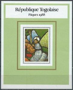 Togo #1461 YTBF265 MNH S/S CV$6 Easter 1988