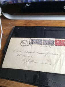 USA to Alberta, Canada 1927 Special Deliv. Cover to H.R.H. Edward Prince ofWales
