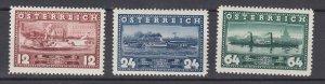 J29507, 1937 austria set mh #382-4 ships