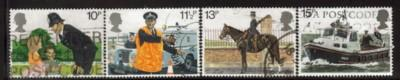 Great Britain Sc 875-8 1979 London Police stamps used