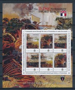 [81213] Nevis 2011 Second World war D-day Sword beach Sheet MNH