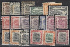 Brunei KGVI 1948 Set Plus To $10 SG79/92 MLH/FVU J7073