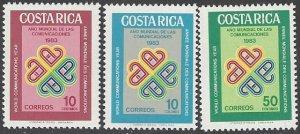 Costa Rica 296-8 MNH  ITU World Communications Year 1983