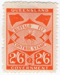 (I.B) Australia - Queensland Revenue : Buffalo Fly 2/6d