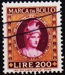 Italy. Date? 200L (Marca Da Bollo).Fine Used