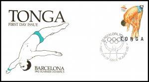 Tonga 816 Summer Olympics U/A FDC