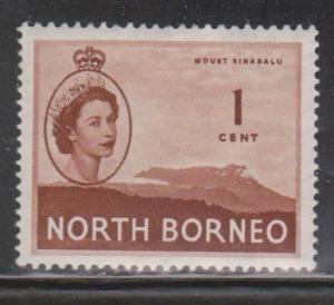 NORTH BORNEO Scott # 261 MH - QEII & Mount Kinabalu