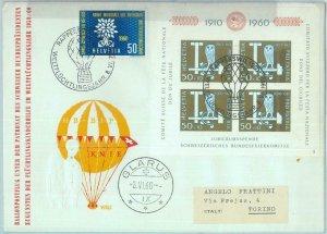 89744xx  - SWITZERLAND - Postal History - SPECIAL BALLOON FLIGHT - 1960  OWLS