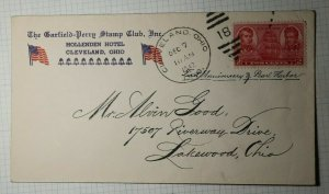 GPSC Cleveland OH 1st Anniv Pearl Harbor Philatelic Convention Cachet Cover 1942
