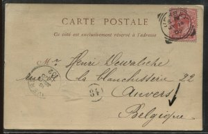 GB KEVII 1d on 1902 Jersey Post card to Anvers Belgium