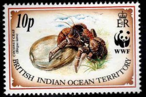 British Indian Ocean Territory BIOT Scott 134 MH* Crab WWF stamp