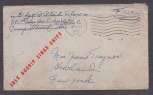 **US 20th Century WWII Patriotic Cover Hinesville, GA, 7/7/1942, Camp Stewart