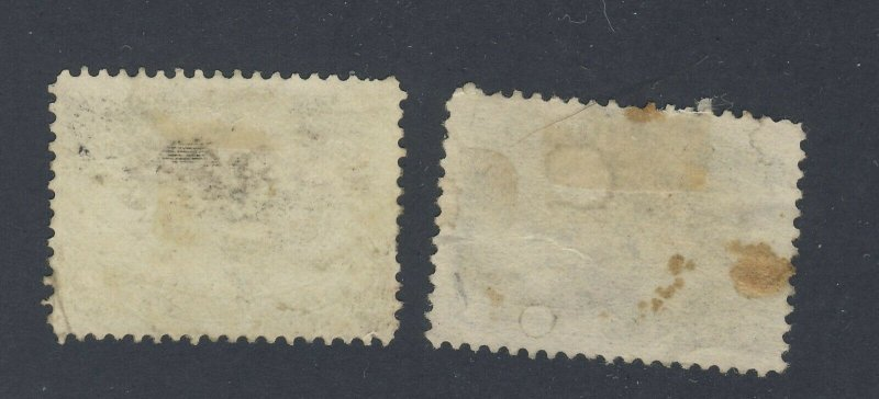 2x Newfoundland Used Stamps #54 -5c Seal #47-2c Codfish F/VF Guide Value=$42.00