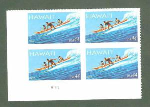 4415 Hawaii Statehood Plate Block Mint/nh Free Shipping