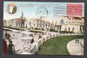 **US 1909 Alaska Yukon Pacific Expo Post Card #47, SC# 370, CV $65.00