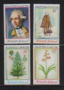 Norfolk Is. MNH sc# 175-8 Captain Cook Flowers 10CV $6.00
