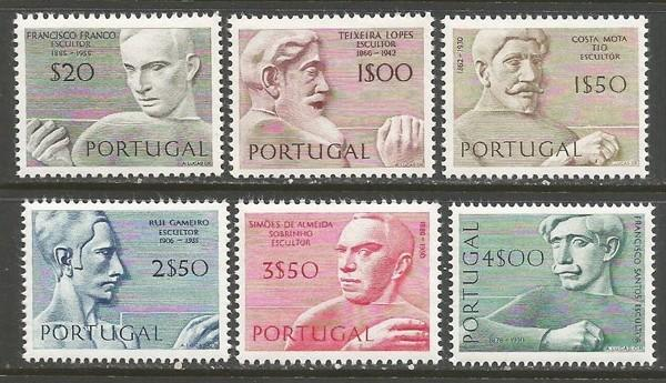 PORTUGAL 1097-1102 MNH SCULPTORS Z120
