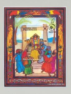 Micronesia #293 Joseph, Judaica 1v S/S Imperf Chromalin Proof