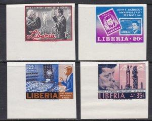 Liberia # 447-448, C173-175, John F. Kennedy, Imperf & Souvenir Sheet, NH, 1/2