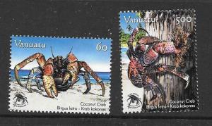 VANUATU SG1023/4 2008 COCONUT CRABS MNH