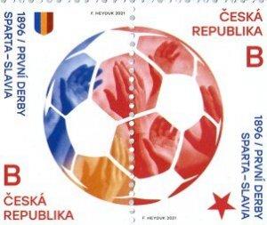 Czech Republic 2021 MNH Stamps Sport Football Soccer Derby Sparta Slavia