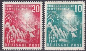 Germany #665-6 F-VF Unused  CV $32.50  Z484