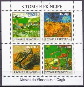 Sao Tome and Principe. 2004. 2535-38 bl496. Painting. MNH.