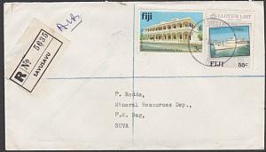 FIJI 1984 Registered cover to Suva ex SAVUSAVU.............................54518