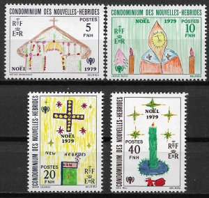 1979 New Hebrides Sc292-5 Christmas: Intl. Year of the Child C/S MNH