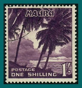 Nauru 1954 Palm Trees, 1s used  #45,SG54