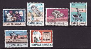 D3-Qatar-Scott#127-127E-Unused hinged set-Postal Service-196