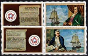 Cook  Islands #445-6  MNH CV $11.50  (X2528)