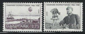 Denmark 1994 Arctic Expedition set Sc# 1004-05 NH