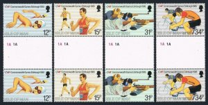 Isle of Man 297-300 gutter,MNH.Mi 298-301. Commonwealth Games 1986.Swimming,