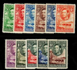 BECHUANALAND SG118-128, COMPLETE SET, M MINT. Cat £110.