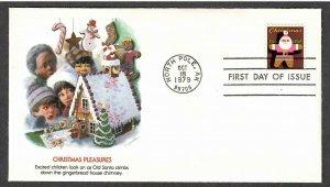 US # 1800 Christmas 1979 Fleetwood FDC - I Combine S/H
