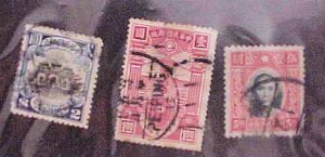 CHINA STAMPS #218,334,346  USED cat.$49.00