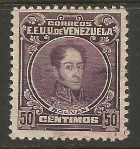 VENEZUELA 265 VFU BOLIVAR V075-1