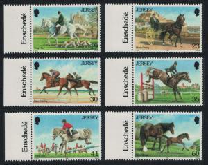 Jersey Horses 6v Left Margins SG#758-763