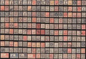 200 PATIALA  (INDIAN STATE) All Different Stamps (c80)