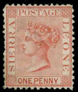 SIERRA LEONE SG17, 1d rose-red, UNUSED. Cat £60.