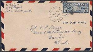USA 1933 10c airmail cover ex US Marine Corp HAITI - Port Au Prince duplex..K679